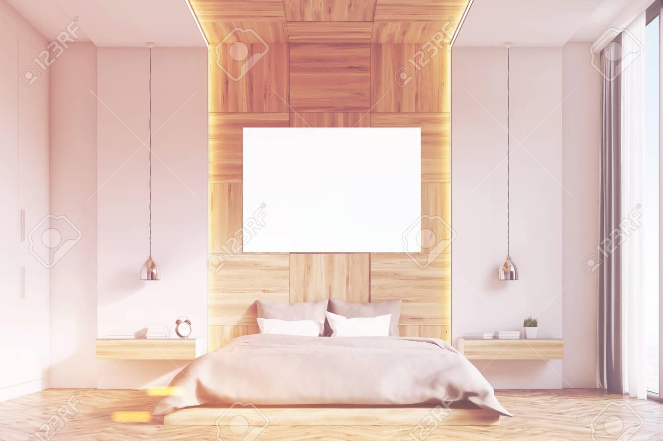 Camera Da Letto Legno Chiaro : Davanti l interno di una camera da letto con pareti in legno