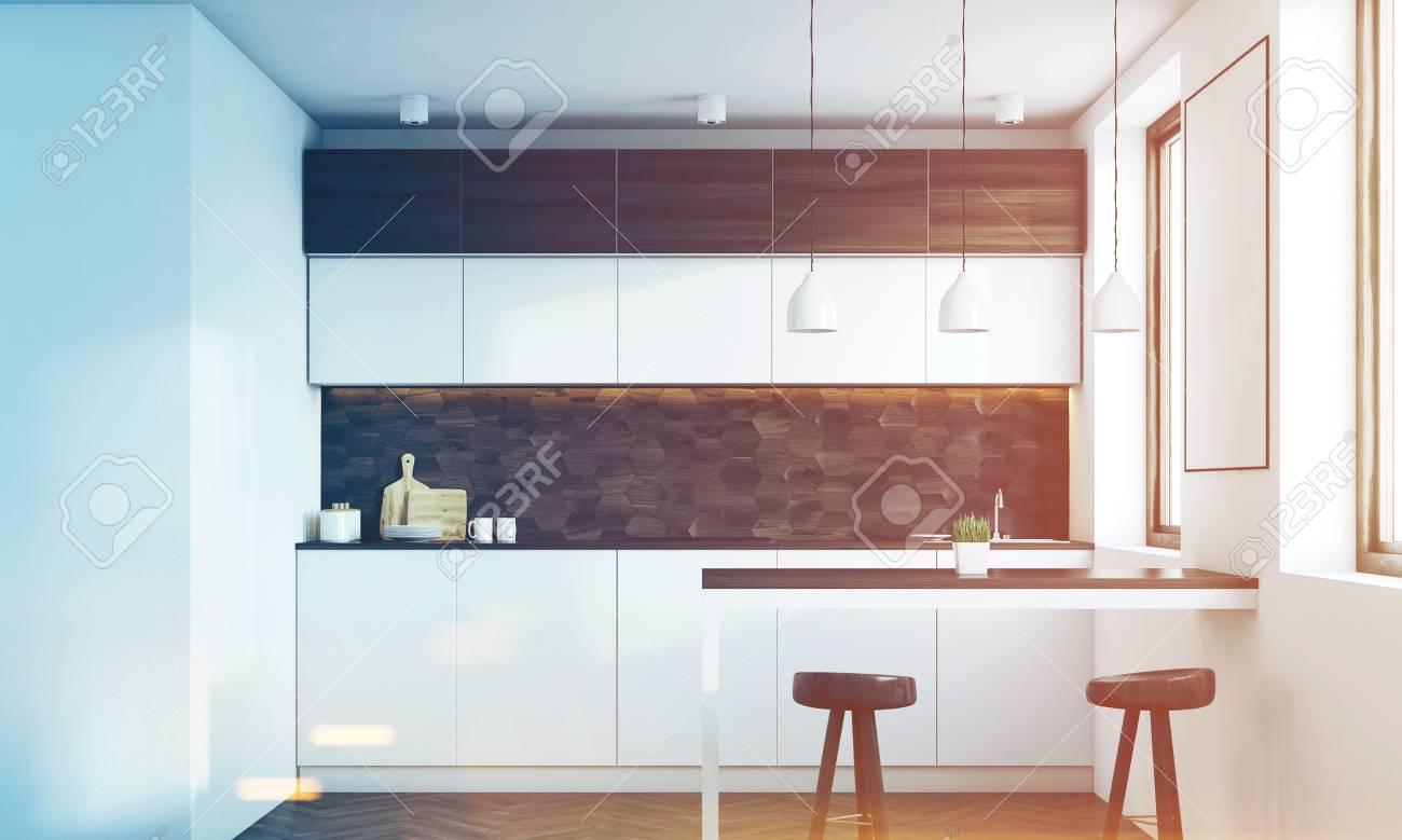 Küche Dunkel Holz. Spritzschutz Küche 250 X 60 Arbeitsplatte Wie ...