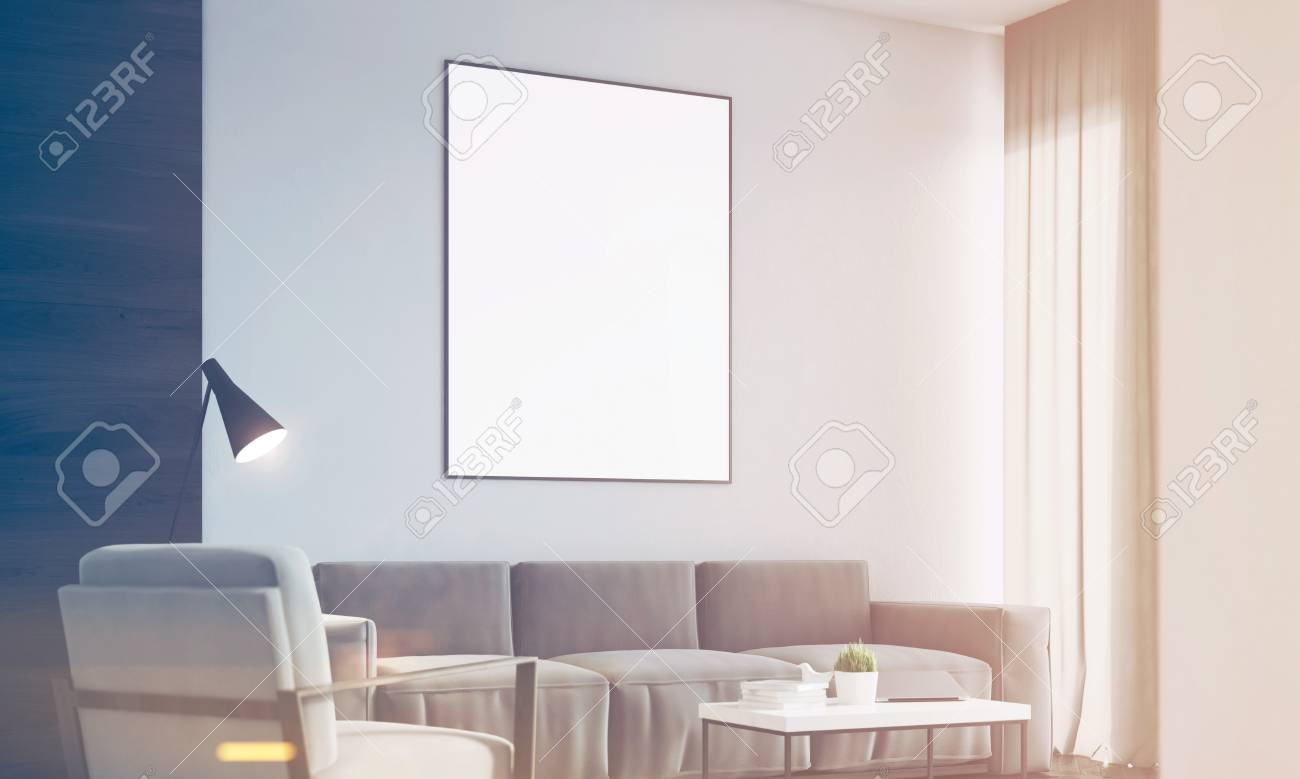 Side View Of A Living Room Interior With A Black Wall Fragment Stock Photo Picture And Royalty Free Image Image 76799804
