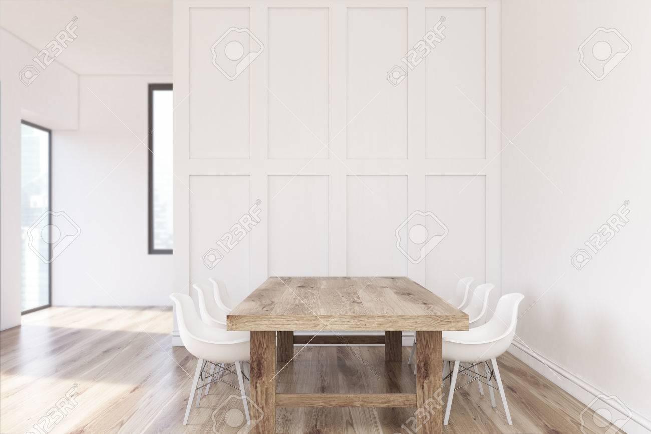 Nahaufnahme Einer Minimalistischen Weißen Küche Interieur Mit Einem ...