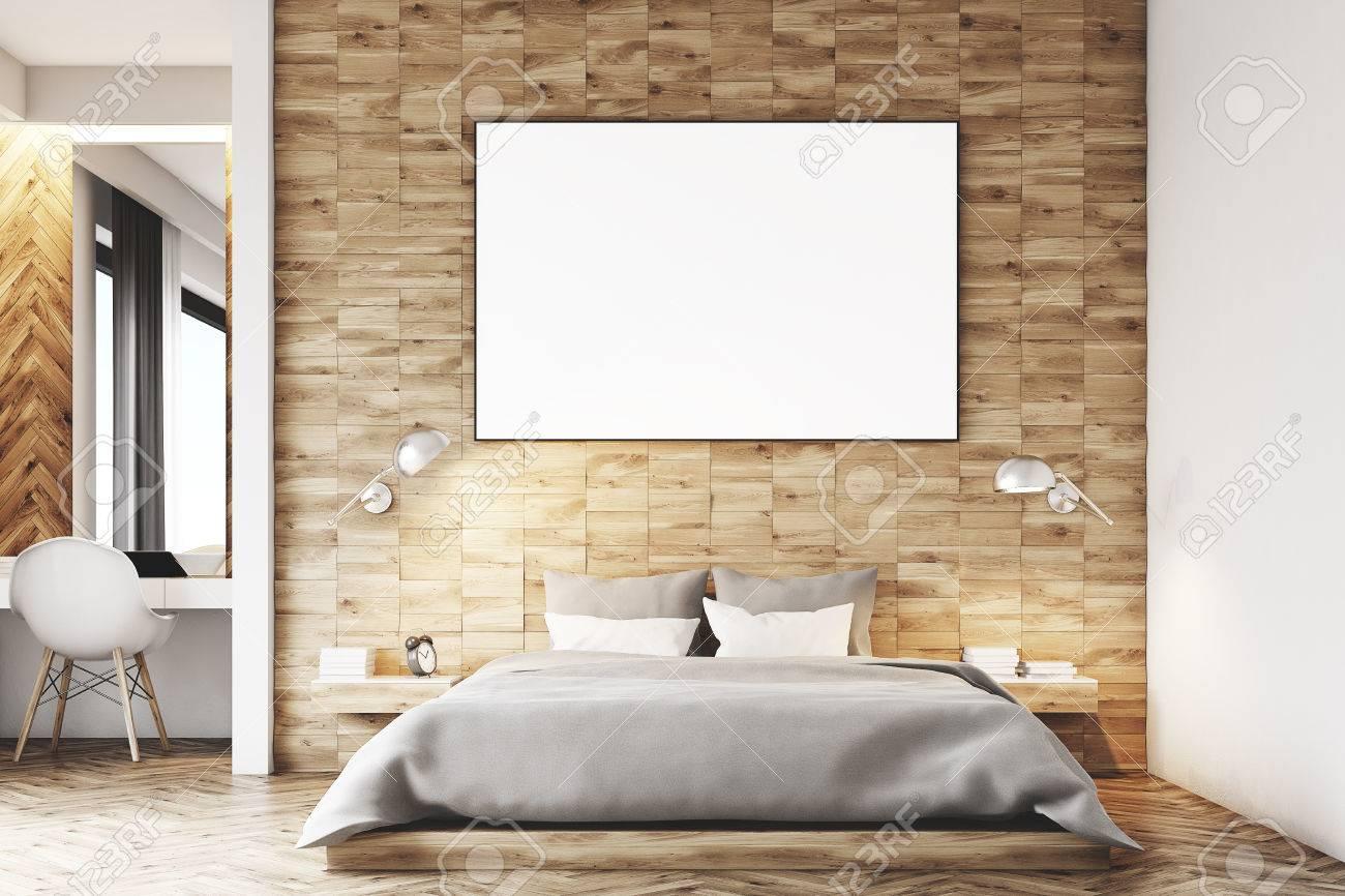 Camera Da Letto Legno Chiaro : Immagini stock primo piano di un interno camera da letto in legno