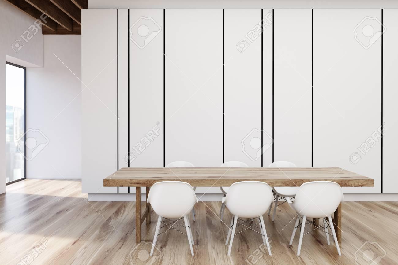 Moderne leeren minimalistische interieur der ausstellung mit