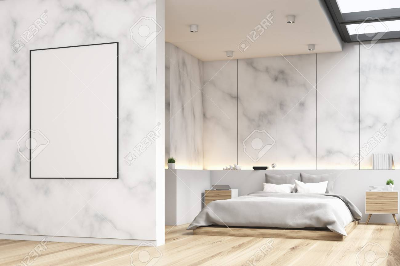 Side View Of A Marble Bedroom Interior With A Panoramic Window Stock Photo Picture And Royalty Free Image Image 78566237