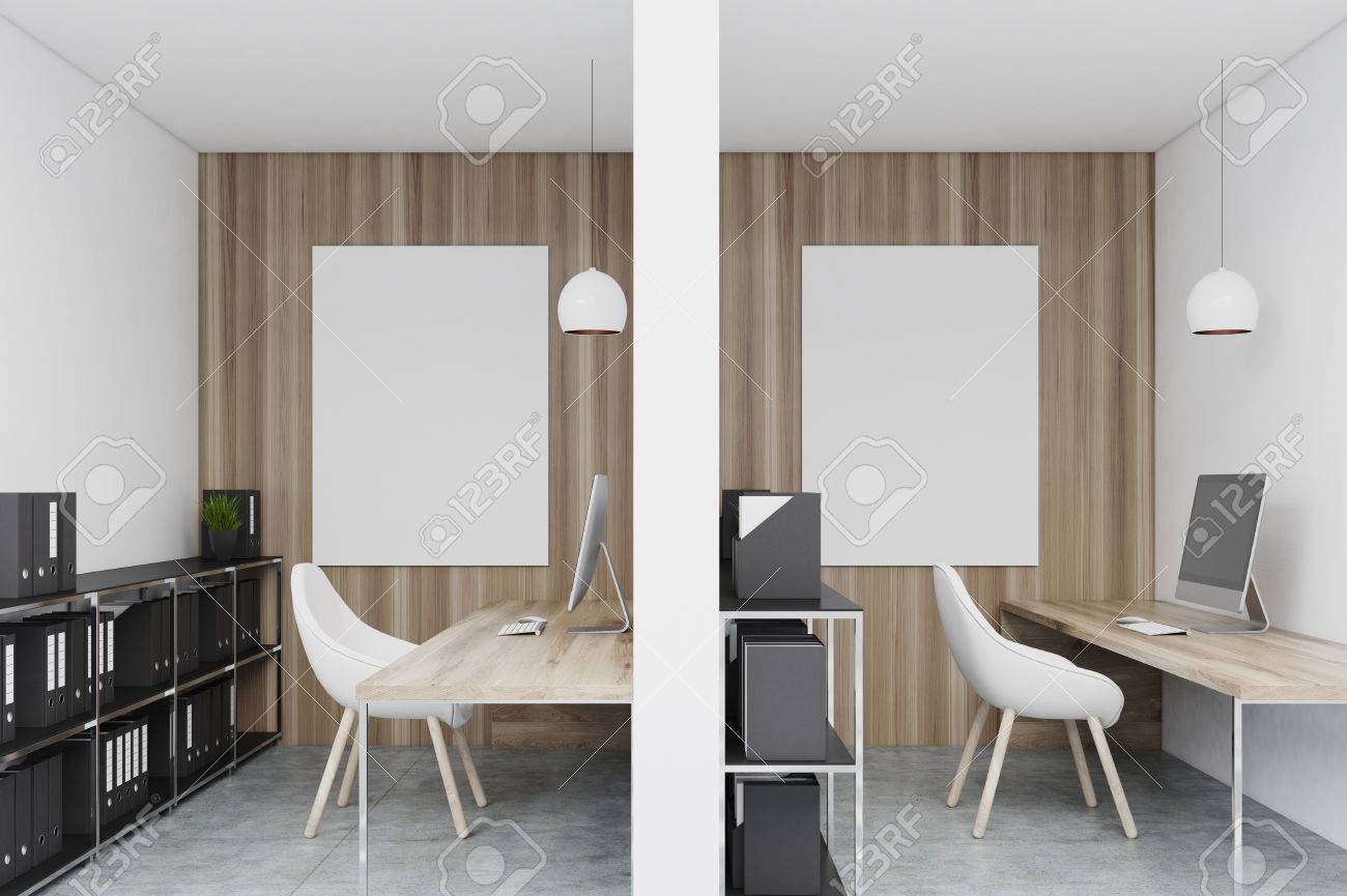 office cubicles walls. Close Up Of Office Cubicles In An With White And Wooden Walls. There Are Walls