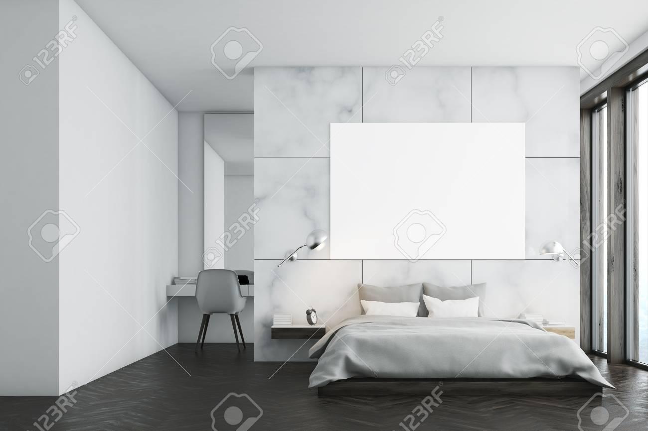Interieur De La Chambre En Marbre Avec Une Fenetre Panoramique Un