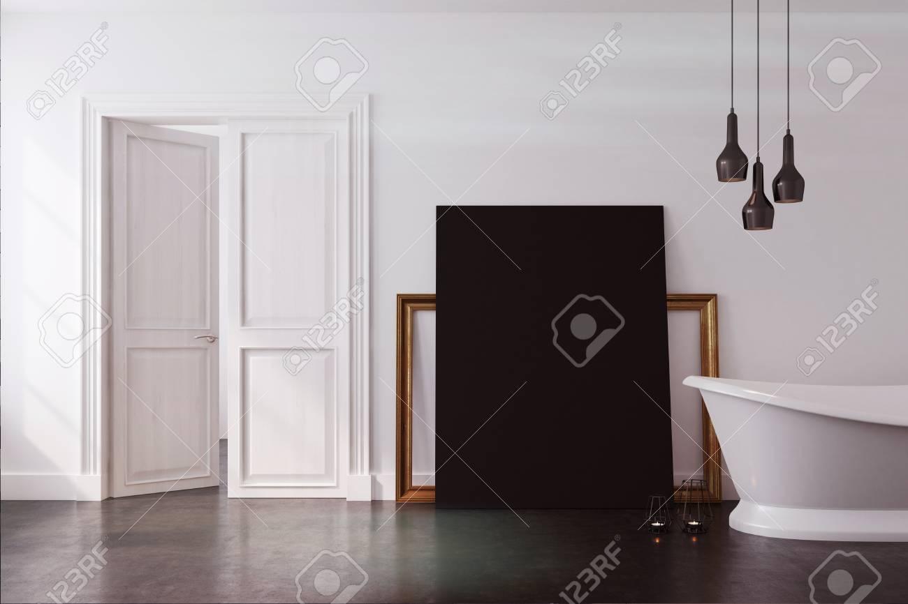 Ikea Salle De Bain Dynan ~ int rieur de salle de bain vintage avec une baignoire blanche et un