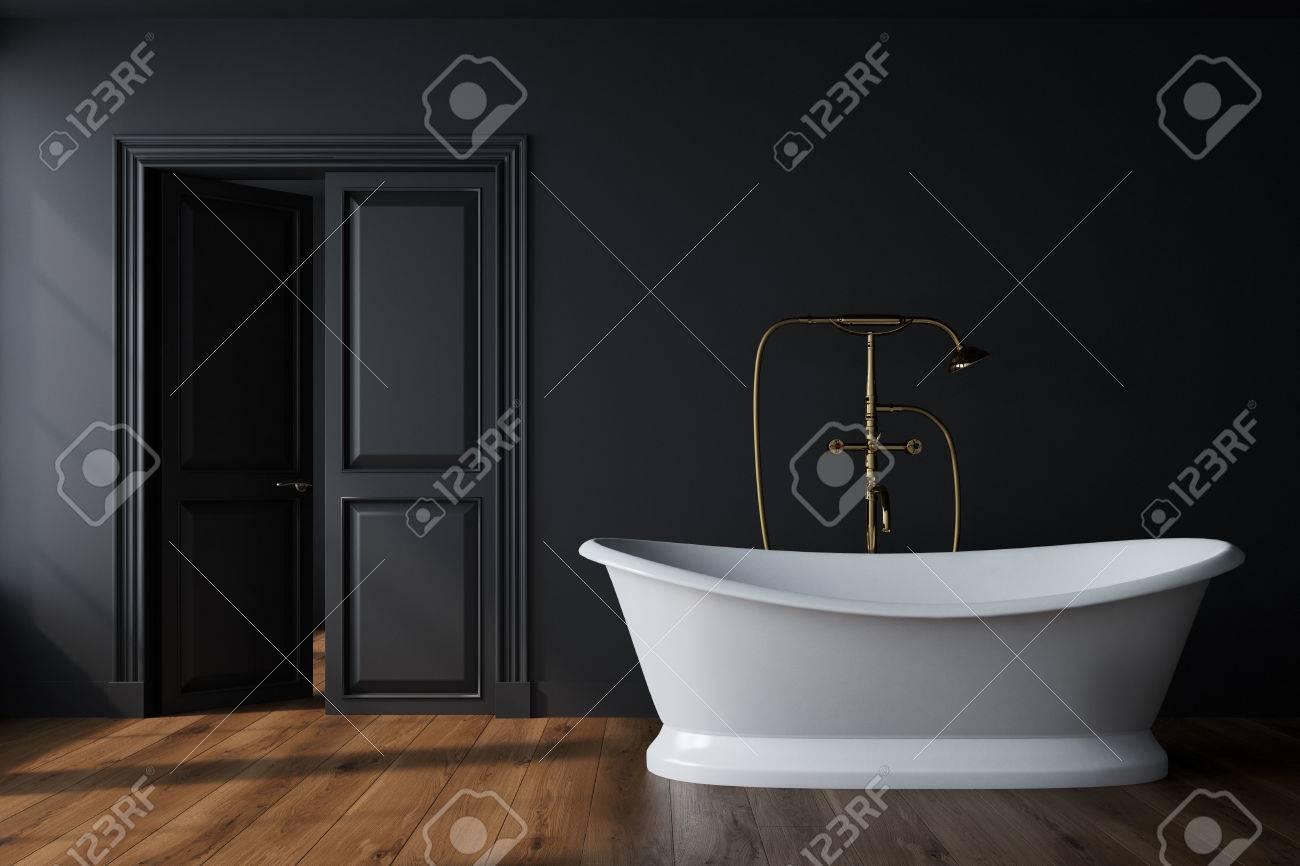 Vintage Badezimmer Interieur Mit Einer Weissen Badewanne Eine