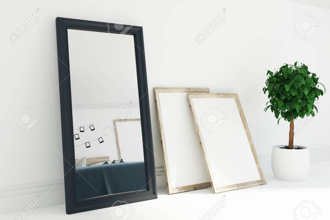 Bonito Blanco Espejo Enmarcado Foto - Ideas Personalizadas de Marco ...