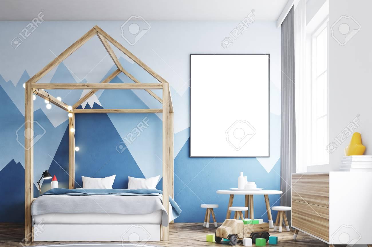 Intérieur De Chambre à Coucher Avec Un Mur Blanc Un Papier Peint De