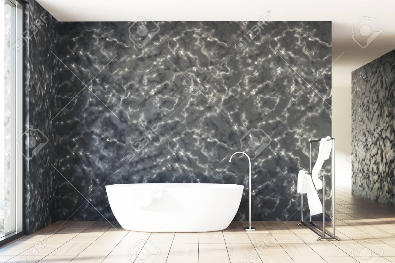 Salle De Bain Couloir Wc ~ Int Rieur De Salle De Bains En Marbre Avec Des Murs En Marbre Noir