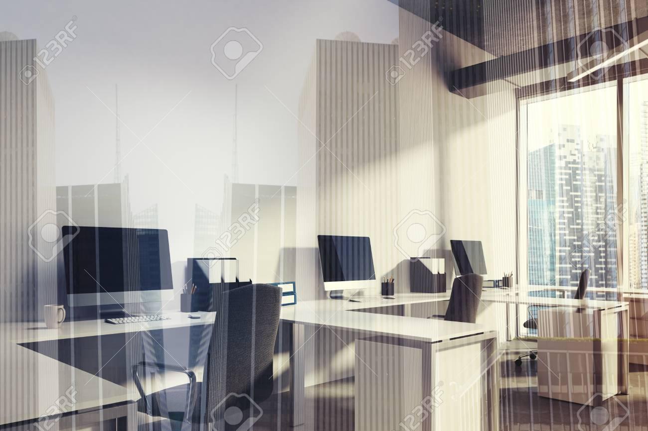Gros plan d un intérieur de bureau à aire ouverte haut de gamme