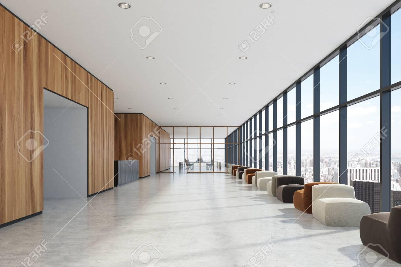 Intérieur de salle d attente de bureau haut de gamme avec des
