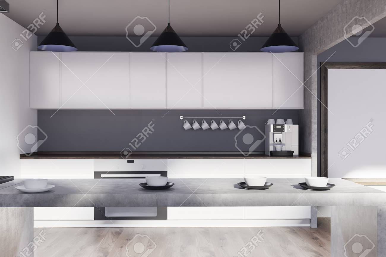 Beste Küchen Mit Weißen Schränken Und Grauen Wänden Ideen - Ideen ...