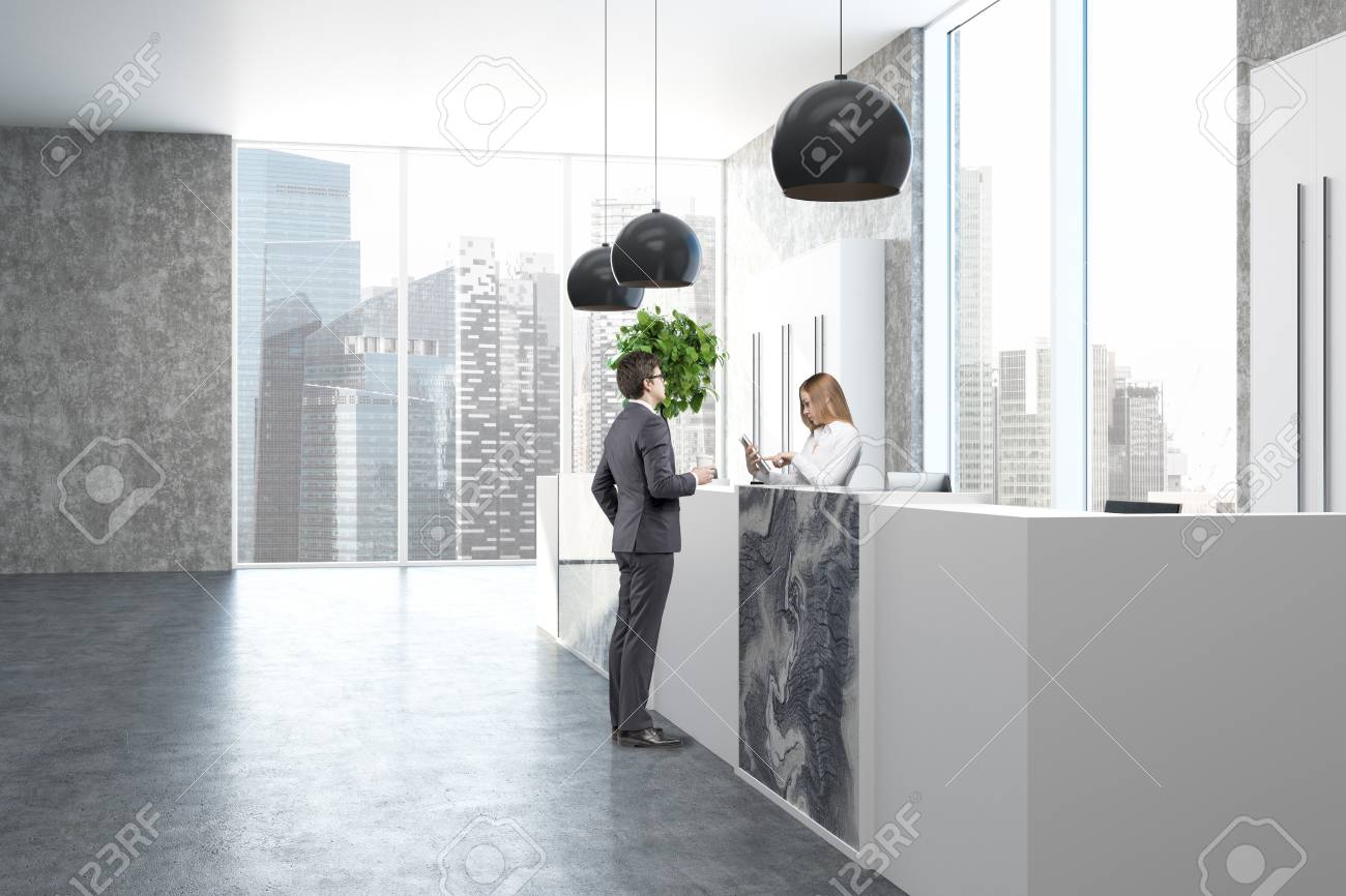 office lobby designs beautiful loft office lobby interior with white and gray marble reception desk panoramic window office lobby interior with white and gray marble reception