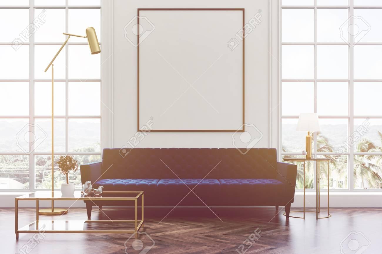 Int Rieur De Salon Blanc Avec Un Plancher En Bois Fen Tres Loft Un