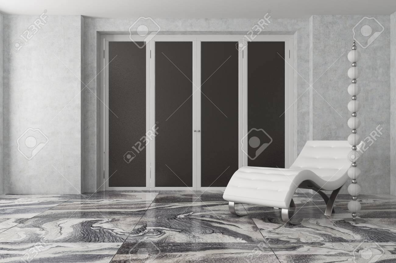 Luxury Gray Living Room Interior With Gray Walls A Marble Floor Stock Photo Picture And Royalty Free Image Image 92568950
