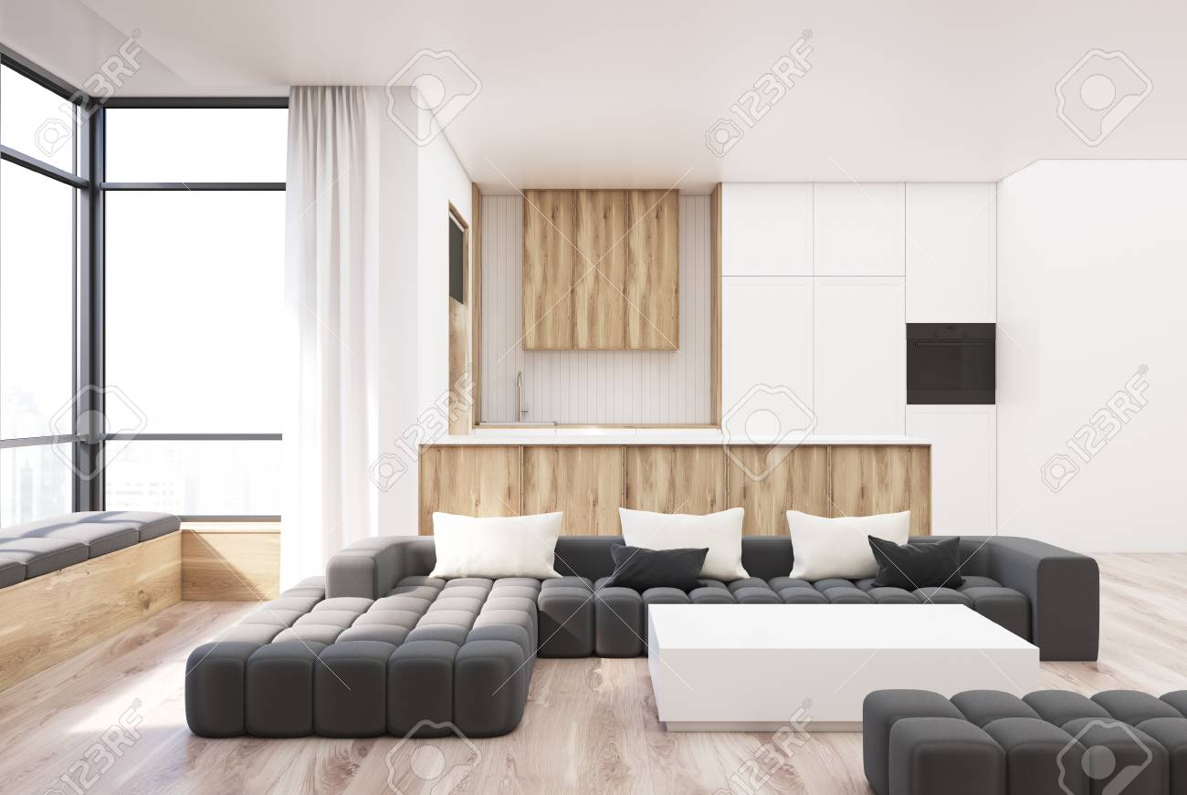 Awesome Wooden Living Room Sofa