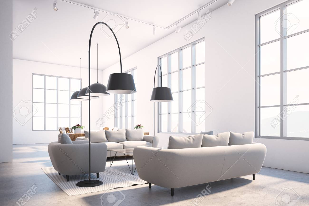 Wondrous Luxury Gray Sofas Standing In A Square In A Scandinavian Style Machost Co Dining Chair Design Ideas Machostcouk