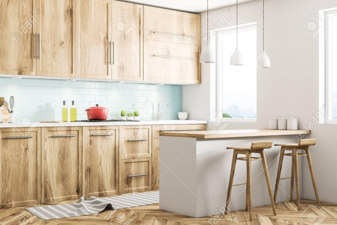 Astonishing White Scandinavian Style Kitchen Corner With Blue Tiled And White Inzonedesignstudio Interior Chair Design Inzonedesignstudiocom
