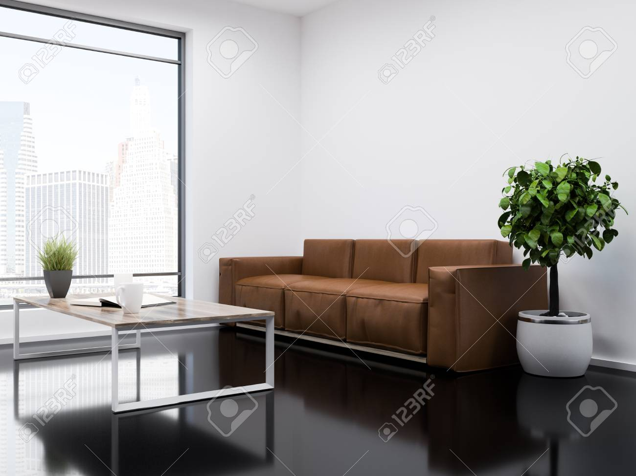 Phenomenal White Wall Office Waiting Room Interior With A Black Glass Like Pdpeps Interior Chair Design Pdpepsorg