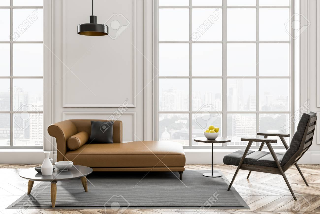 Groovy Minimalistic White Living Room Interior With Wooden Floor Leather Machost Co Dining Chair Design Ideas Machostcouk
