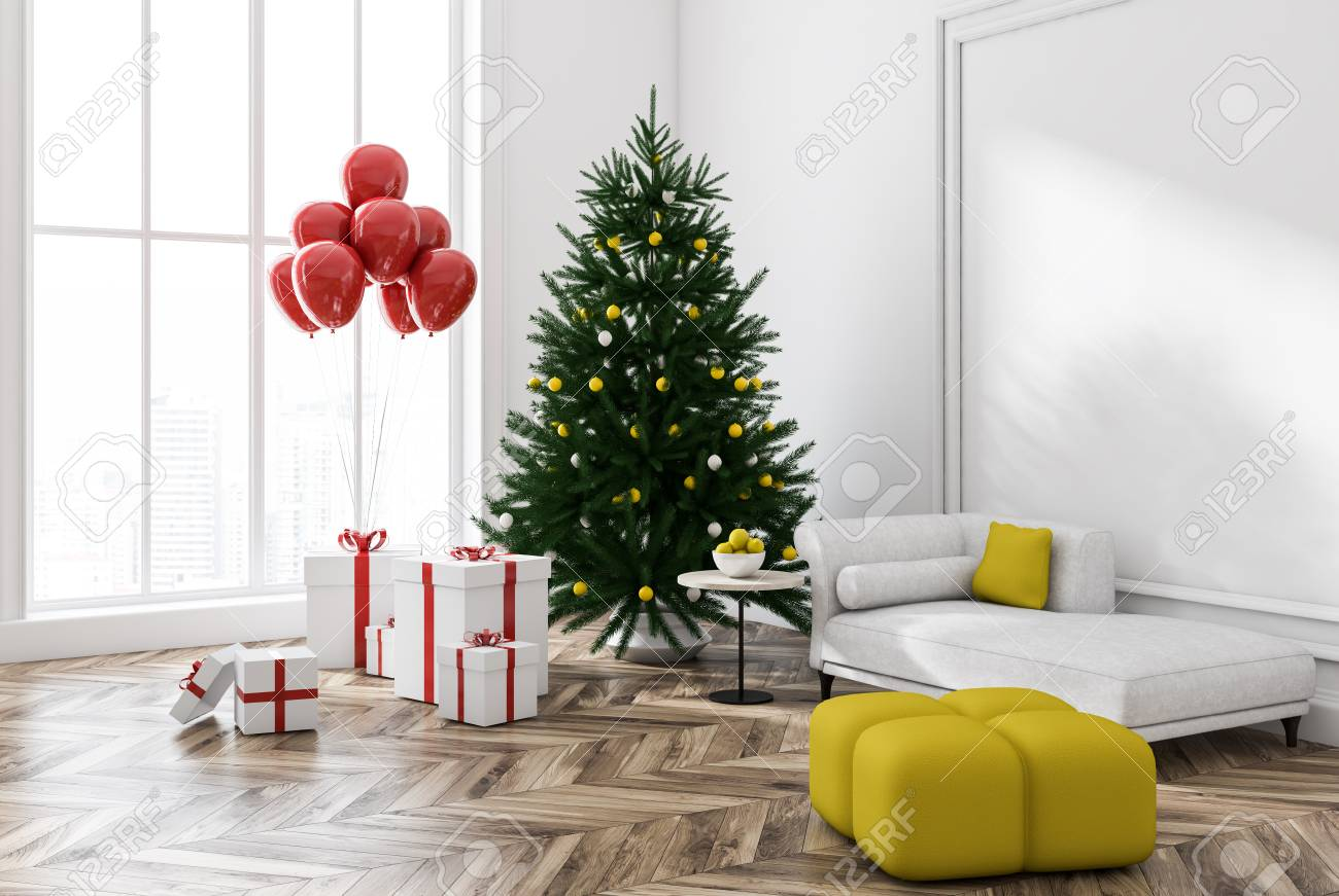 White Wall Living Room Corner With Wooden Floor Red Carpet Stock Photo Picture And Royalty Free Image Image 110246722