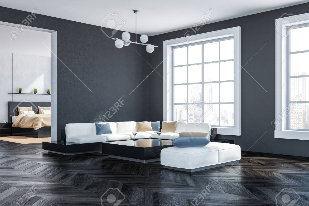 Pleasing Corner Of Living Room With Gray Walls Dark Wooden Floor Big Gmtry Best Dining Table And Chair Ideas Images Gmtryco