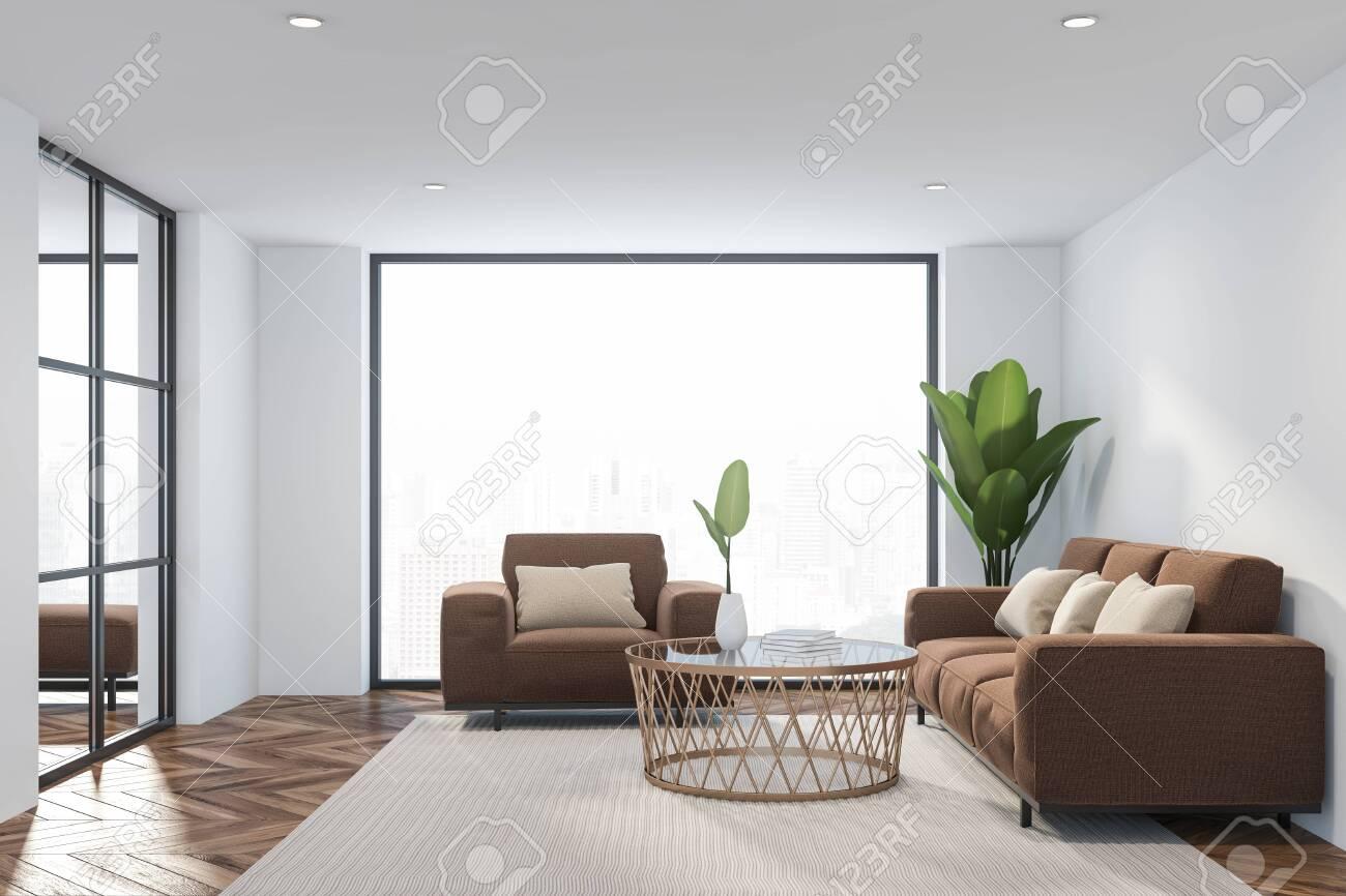 Amazing Interior Of Loft Living Room With White Walls Wooden Floor Uwap Interior Chair Design Uwaporg