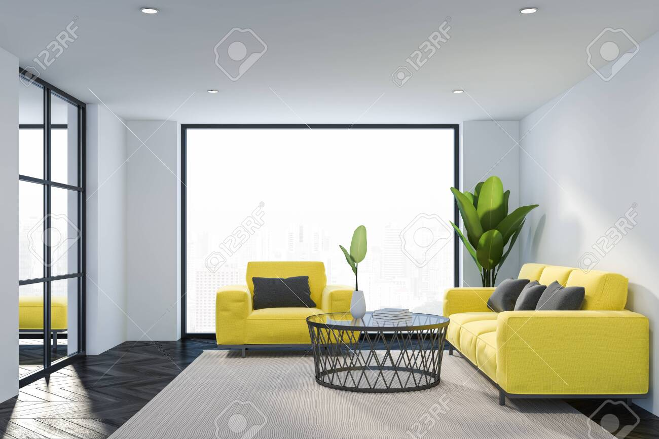 Strange Interior Of Loft Living Room With White Walls Dark Wooden Floor Evergreenethics Interior Chair Design Evergreenethicsorg