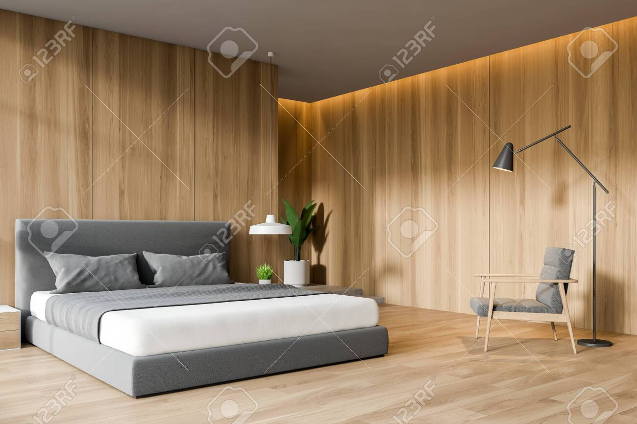Modern Design Wooden Bedroom Interior 3d Rendering Stock Photo Picture And Royalty Free Image Image 119736664