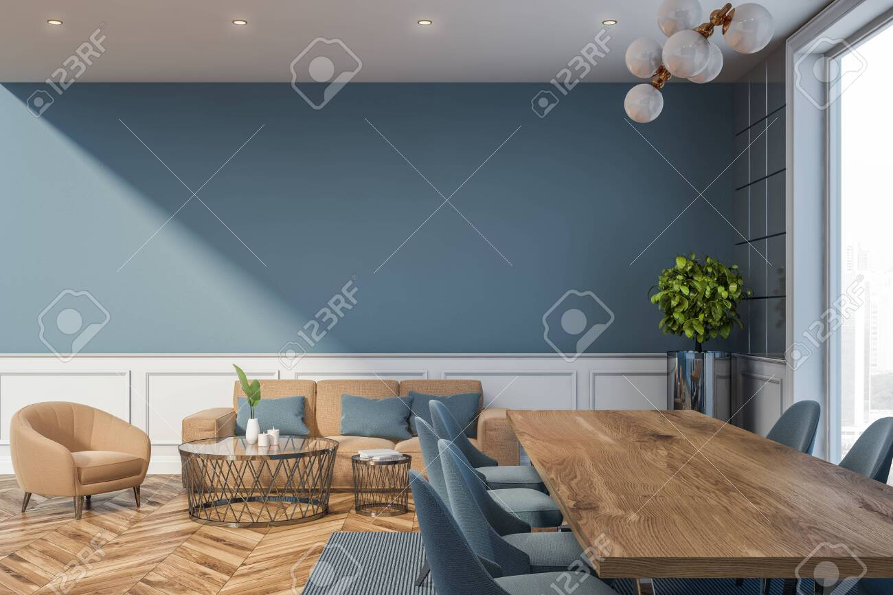 Remarkable Interior Of Modern Dining Room With Gray And Tile Walls Long Alphanode Cool Chair Designs And Ideas Alphanodeonline