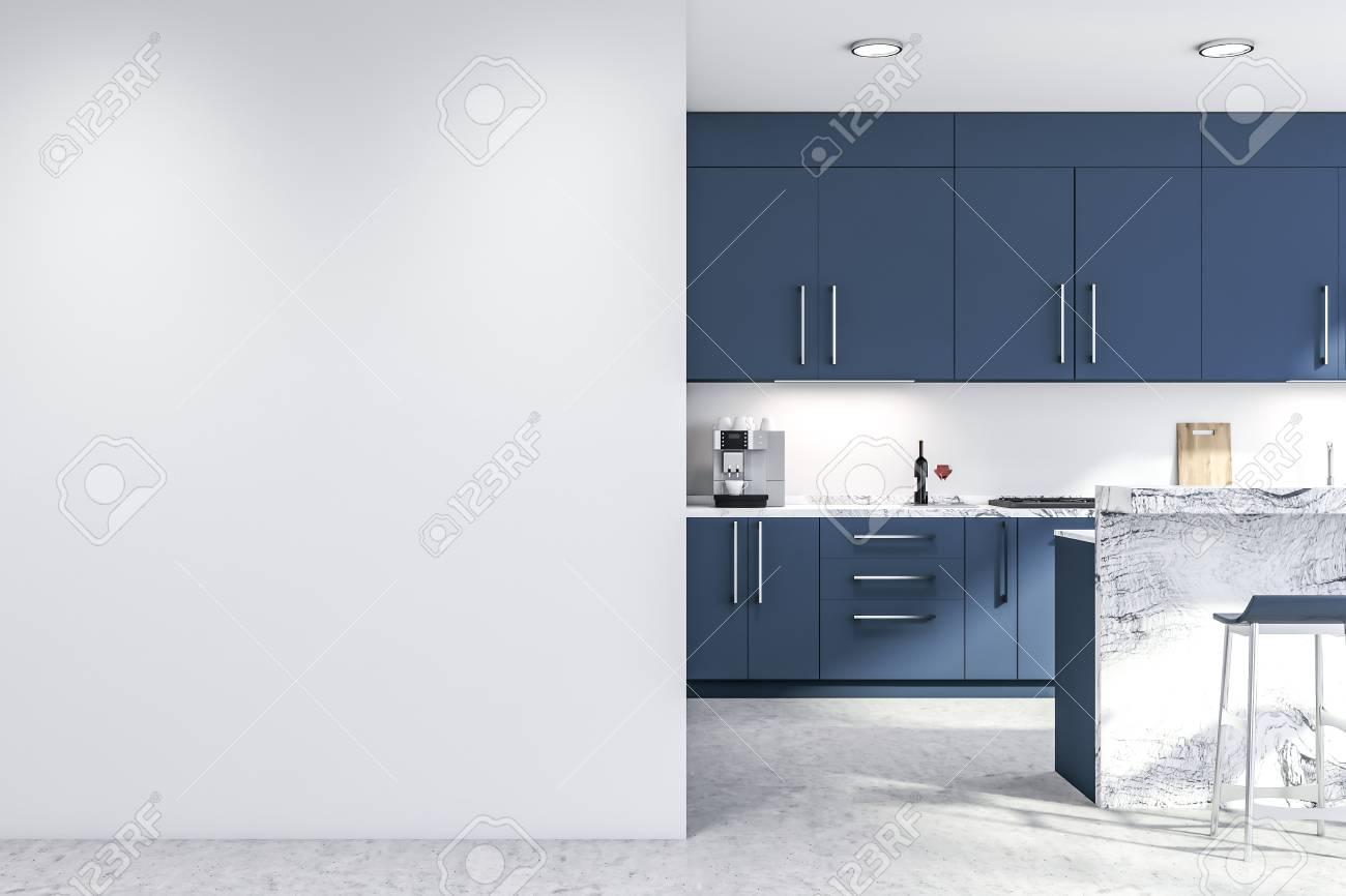 Marvelous Interior Of Modern Kitchen With White Walls Concrete Floor Inzonedesignstudio Interior Chair Design Inzonedesignstudiocom