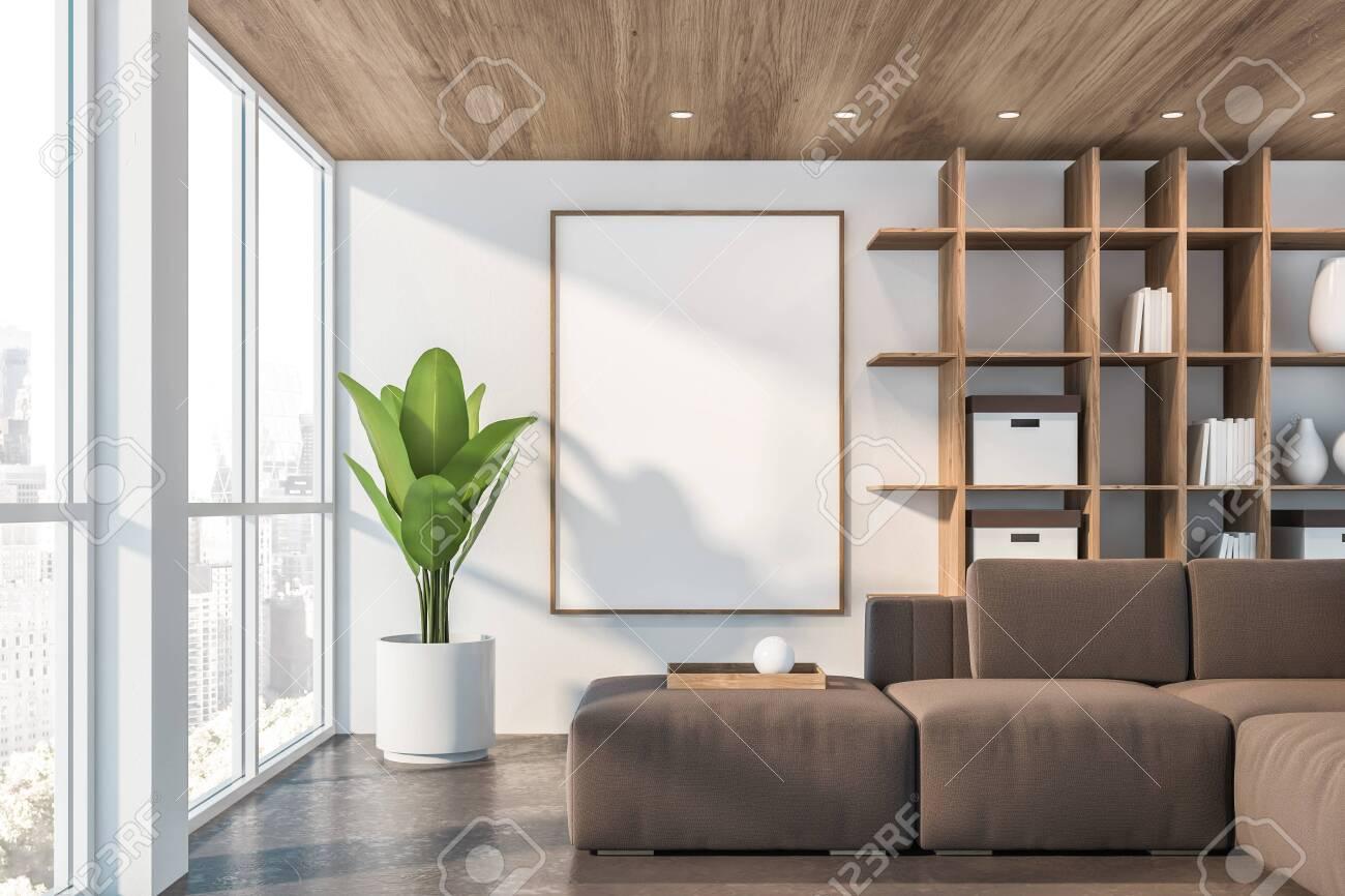 Astounding Interior Of Minimalistic Living Room With White Walls Concrete Uwap Interior Chair Design Uwaporg