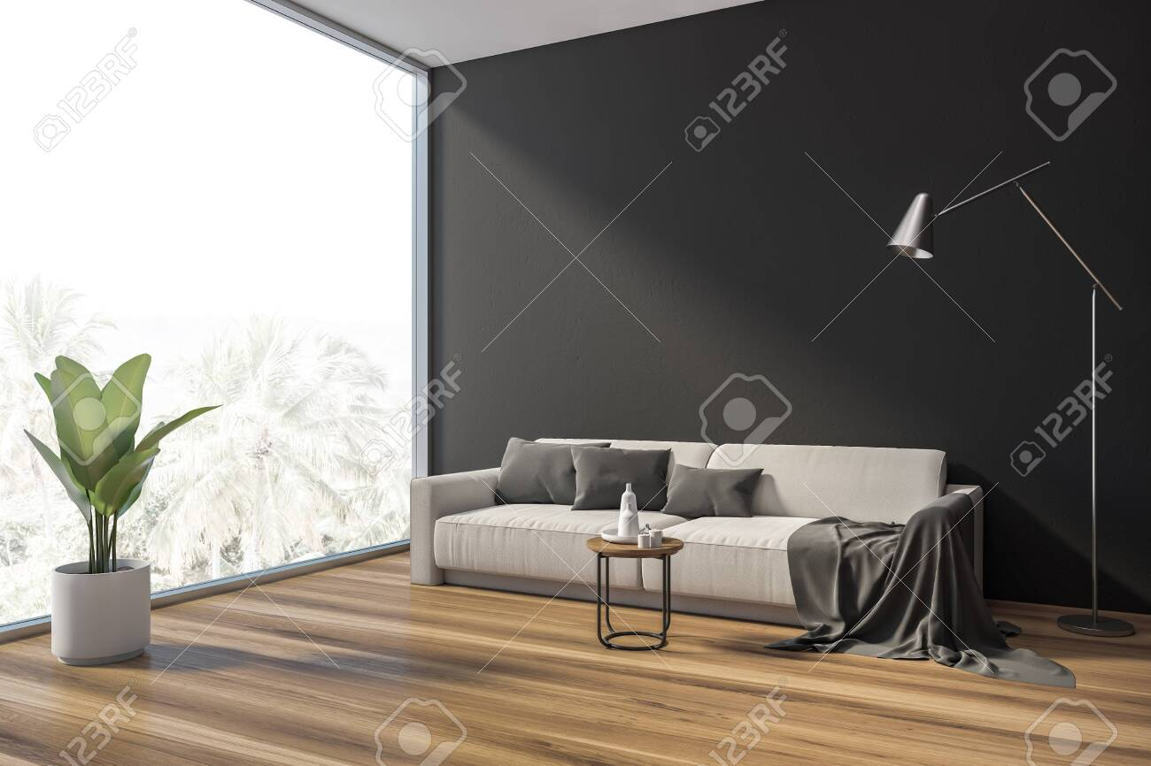 Sensational Interior Of Stylish Living Room With Gray Walls Wooden Floor Gamerscity Chair Design For Home Gamerscityorg