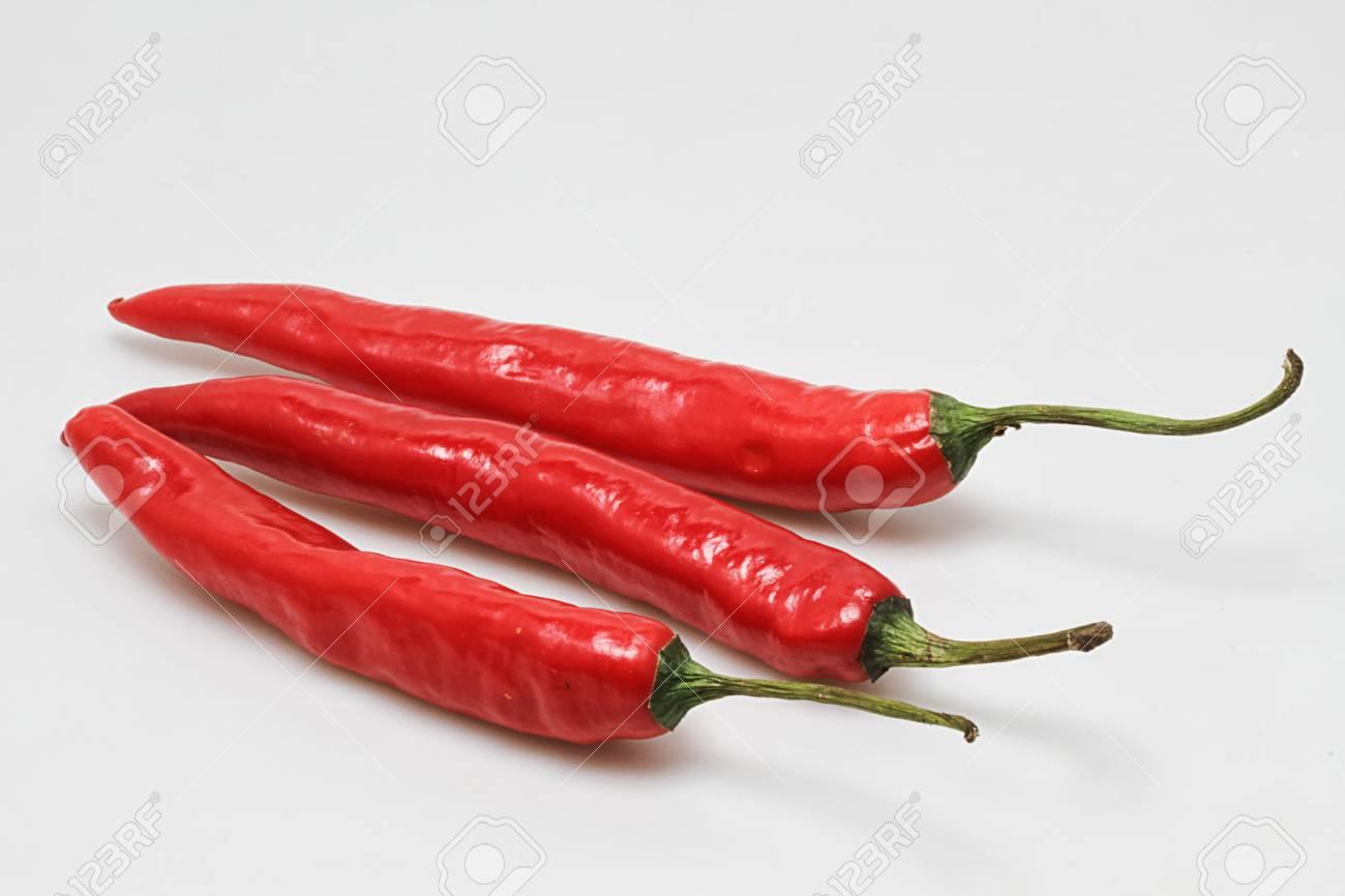 three red chilies Stock Photo - 17685687