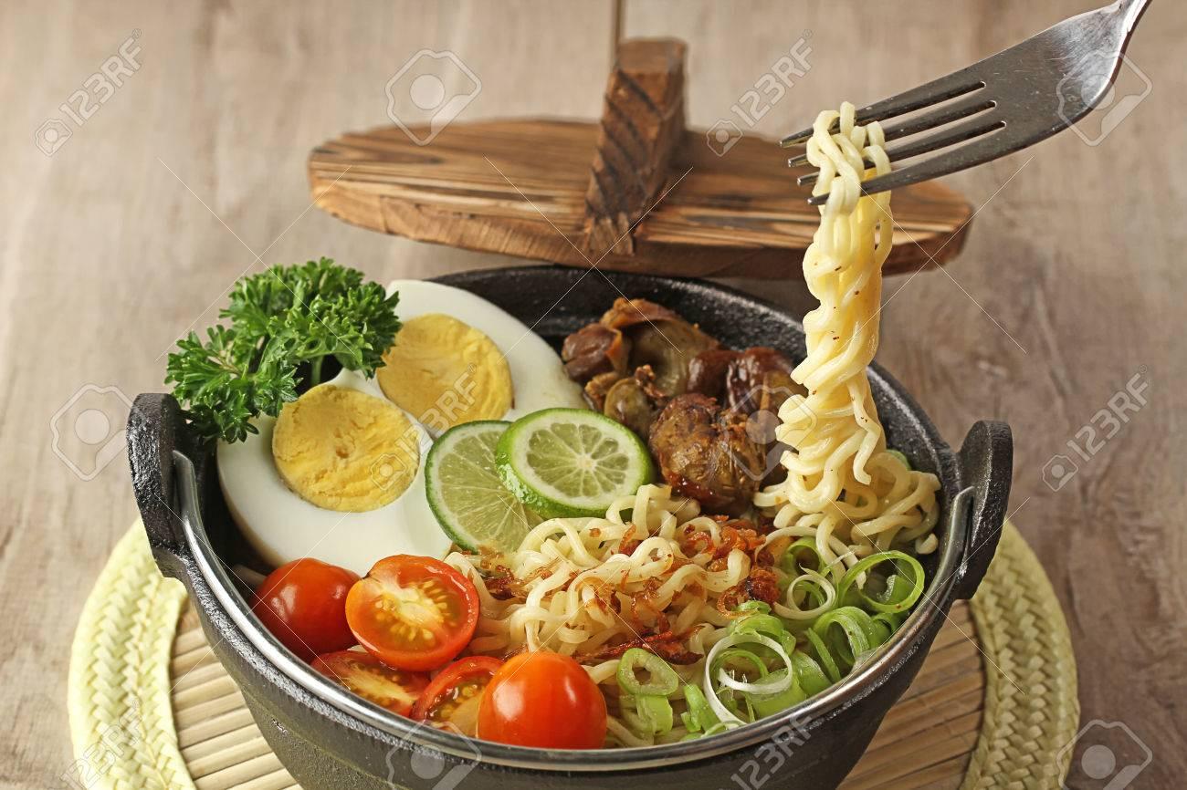 Cuisine Indonsienne Soto Mie La Soupe Aux Nouilles Banque D Dimages 29778593