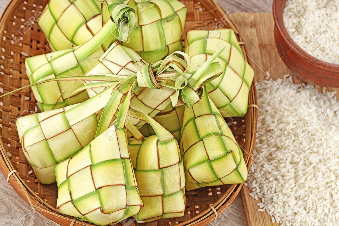 Ketupat Lebaran Indonesian Food For Festive Day Stock Photo