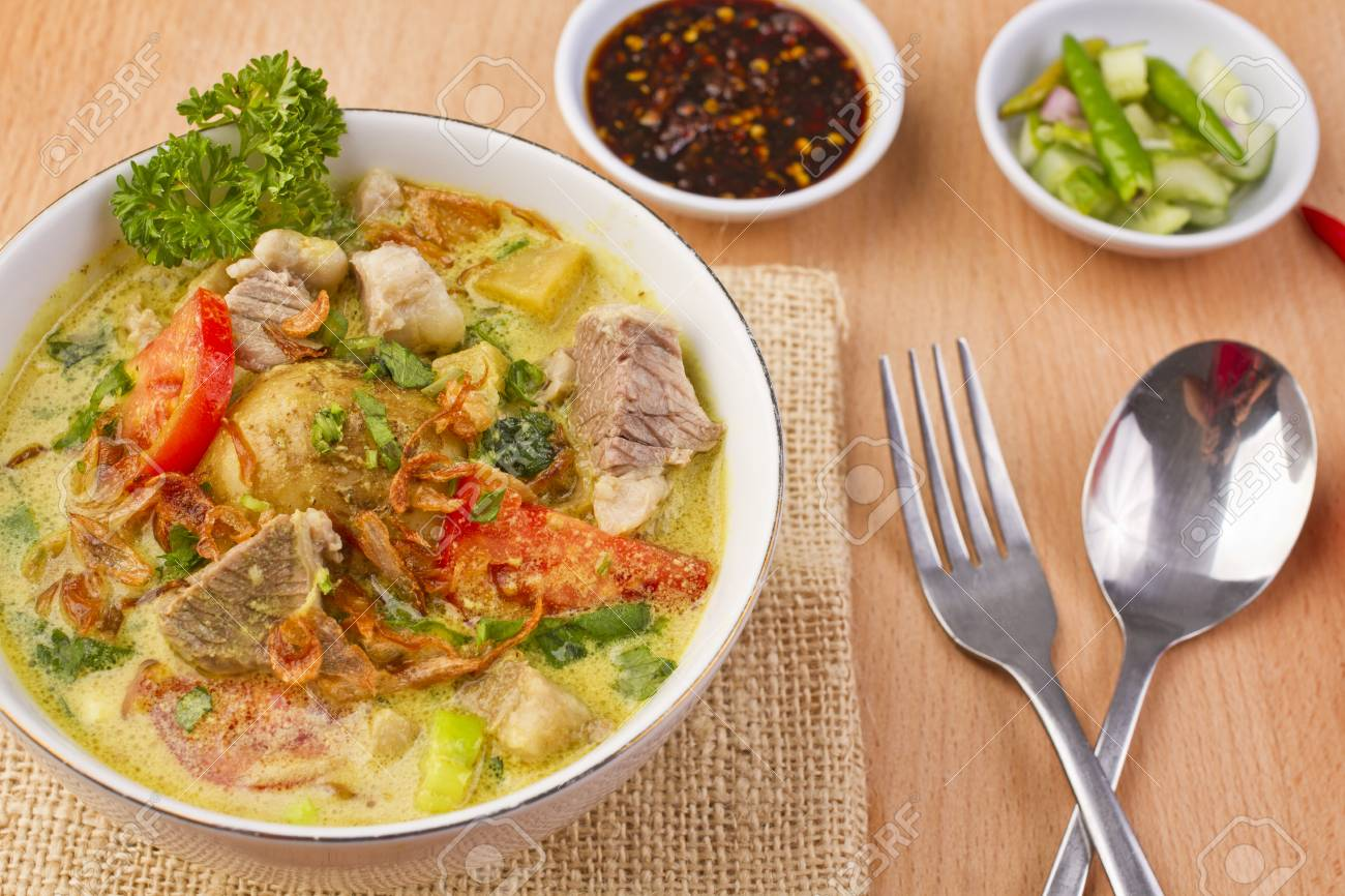 Soto Betawi Indonesian Beef Soup Stock Photo Picture And Royalty