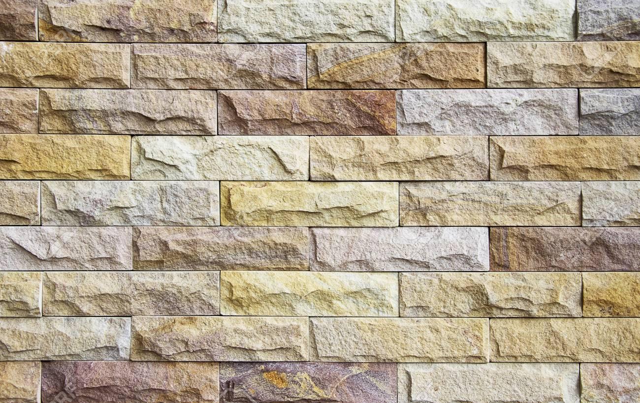 Piastrelle in pietra naturale a pezzi per pareti foto royalty free