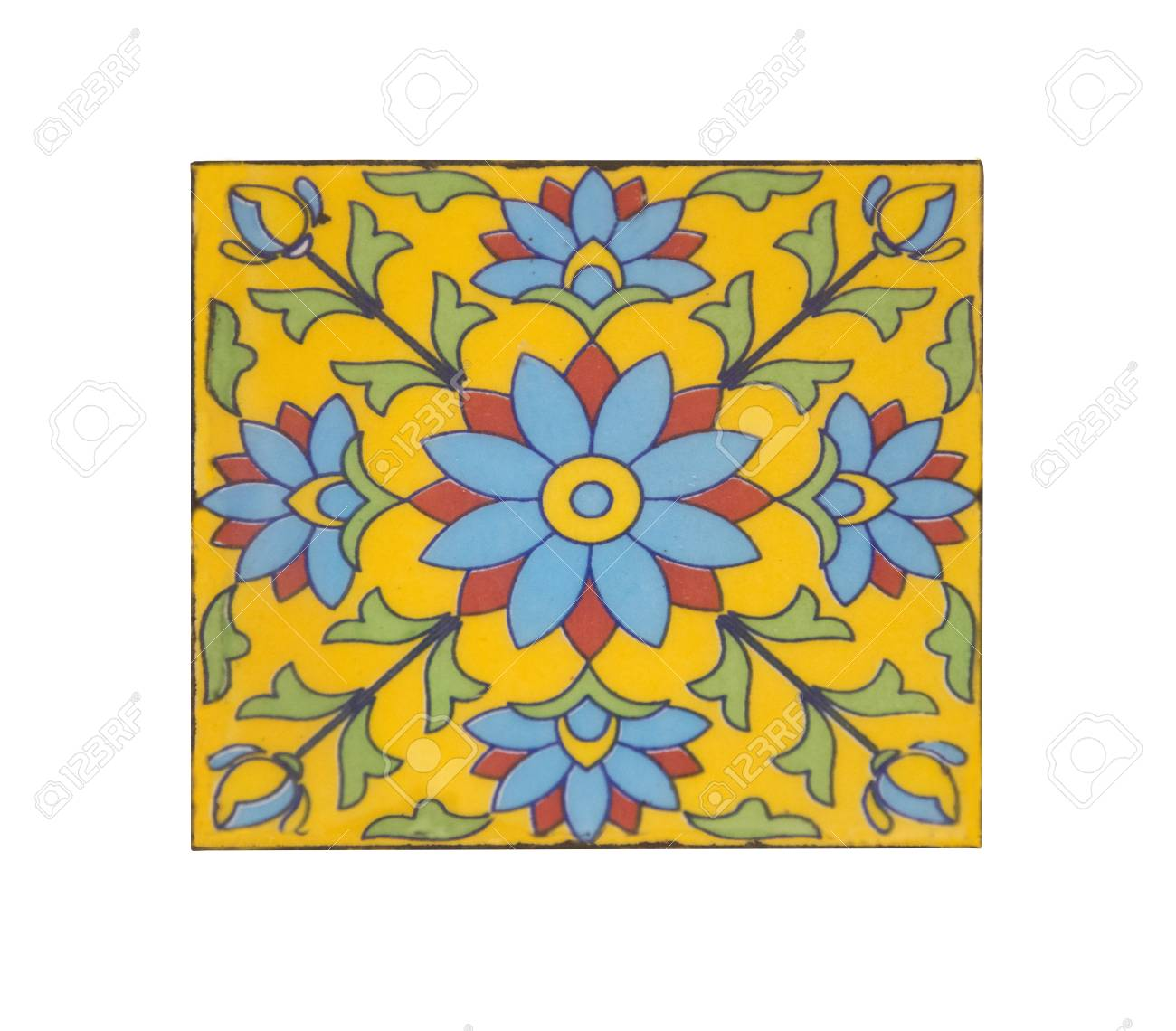 Moroccan Tile Pattern Background Colorful Vintage Ceramic Tiles Stock Photo Picture And Royalty Free Image Image 92551506