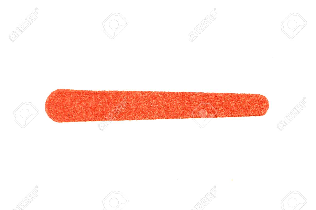 Red Nail File On White Background. Emery Board. Stock Photo, Picture ...