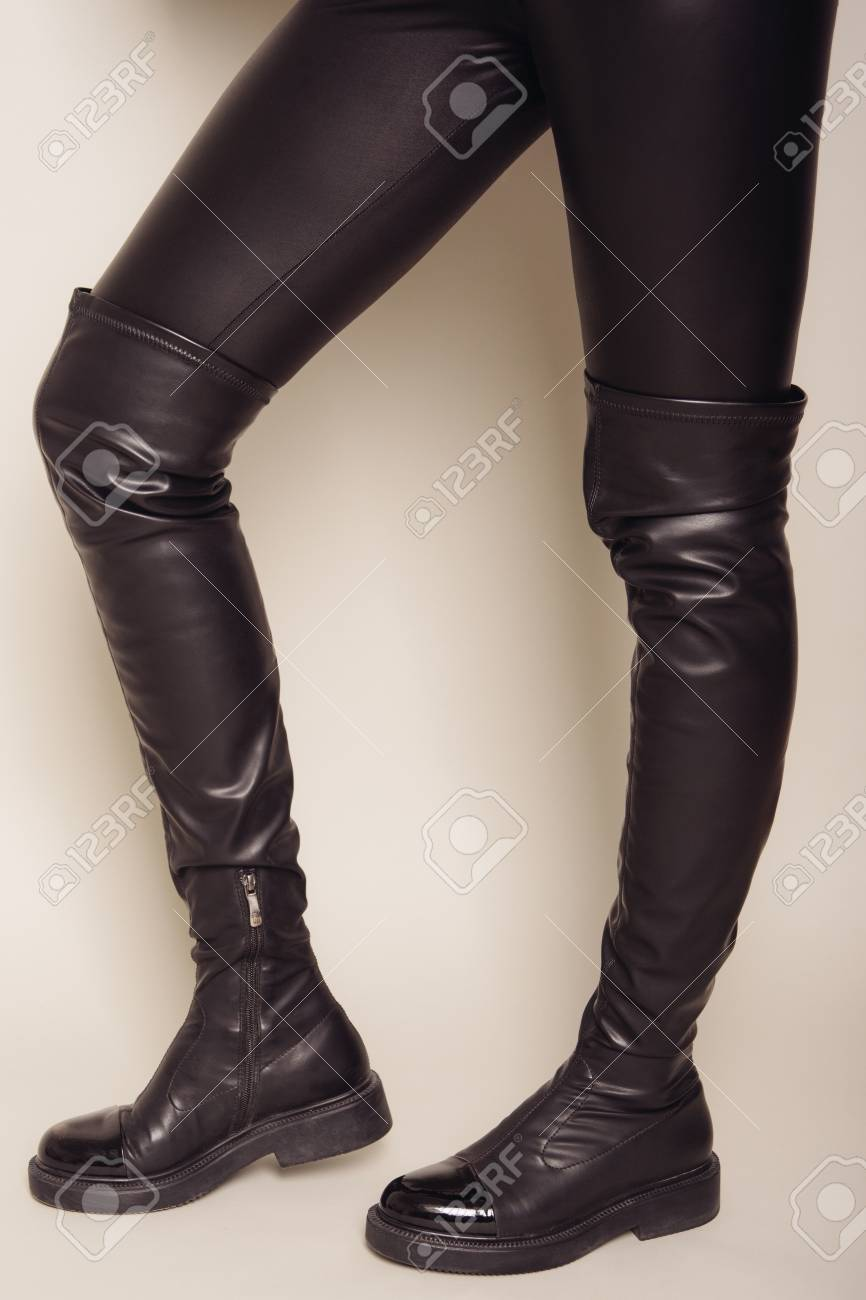 Stylish High Boots. Stock Photo