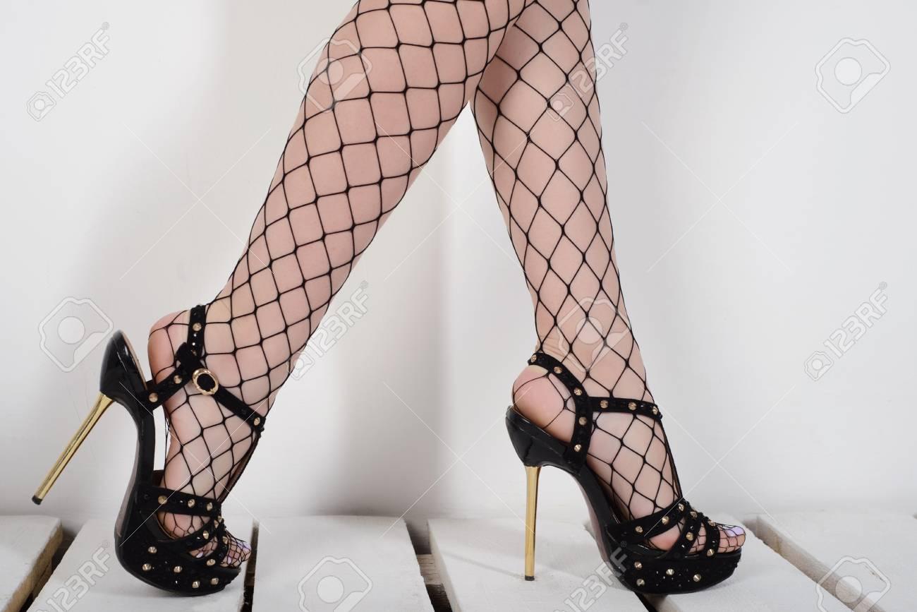 fishnet heels cheap online