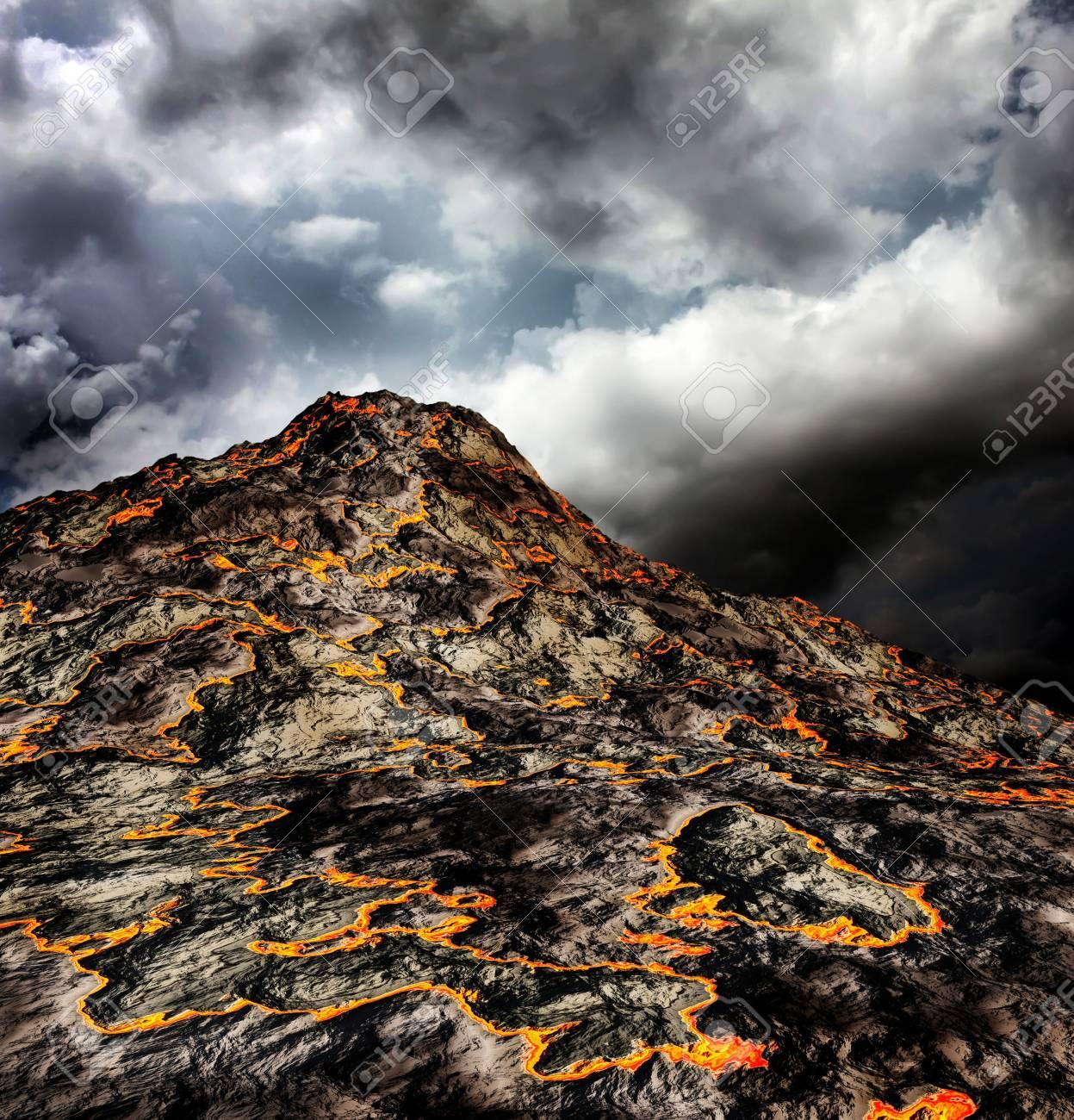 volcanoes on the islands Stock Photo - 10953119