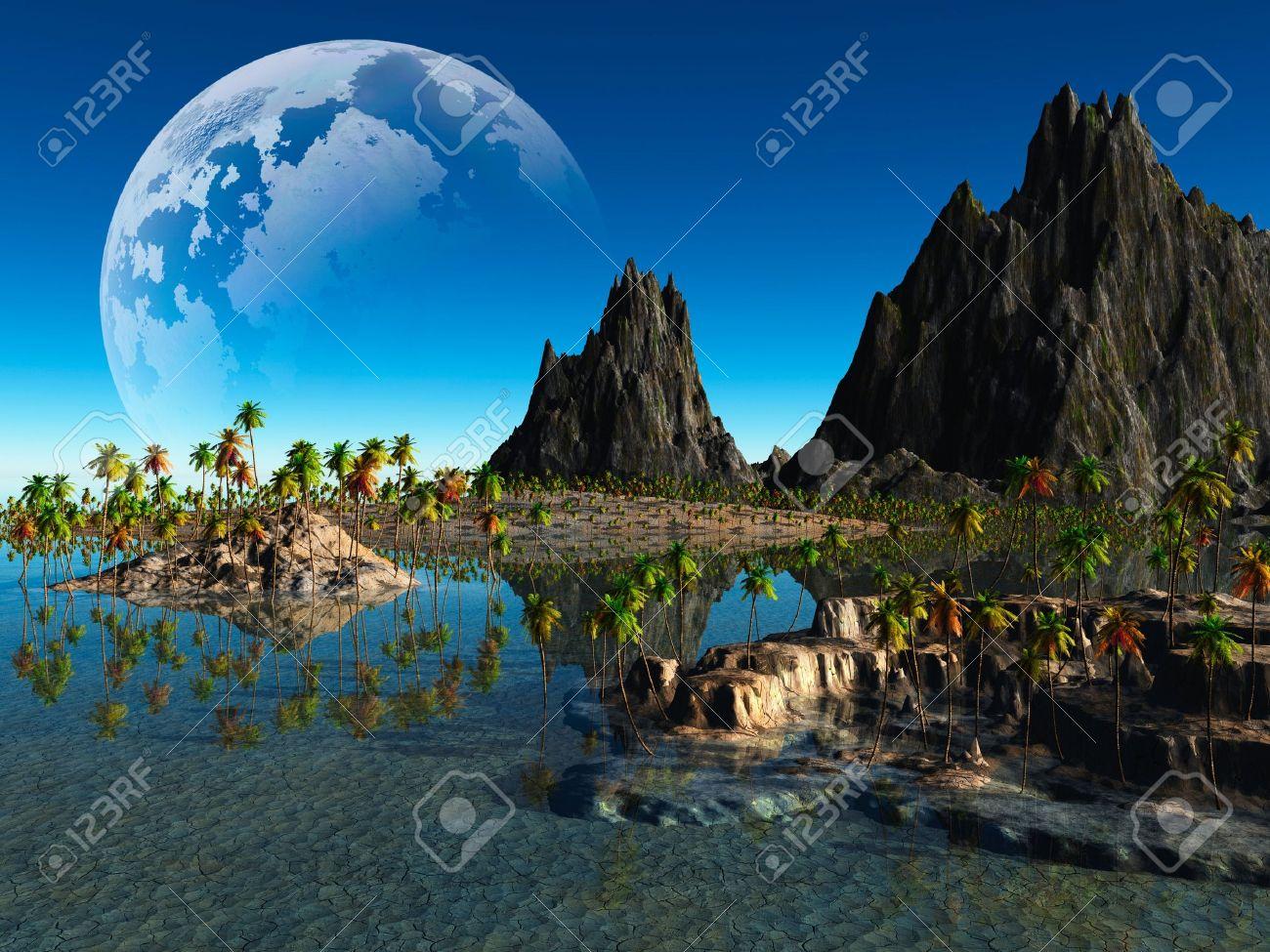 colorful fantasy landscape Stock Photo - 11513873