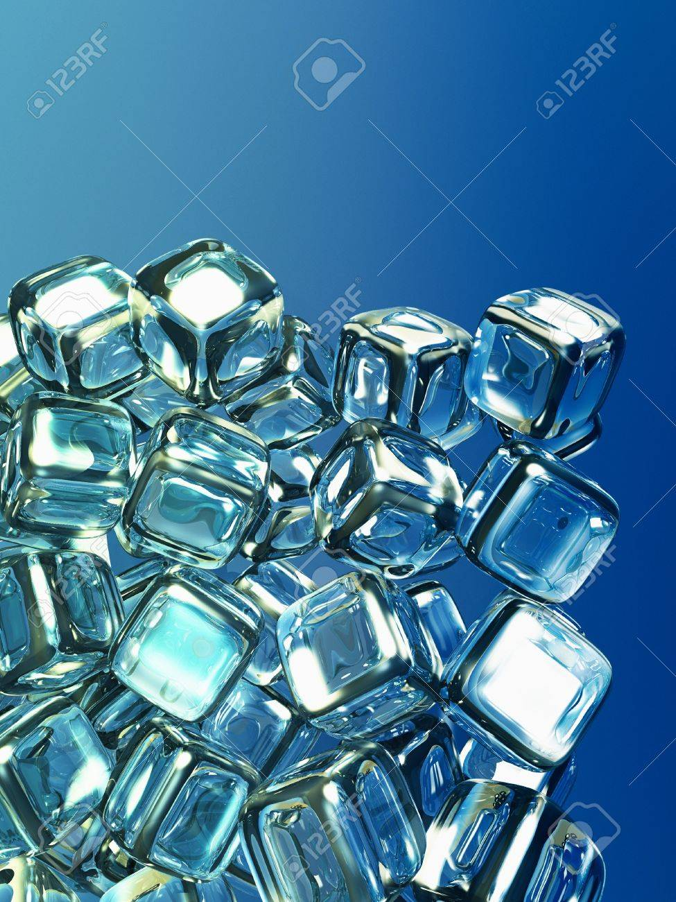 3D Ice cubes Stock Photo - 16491269