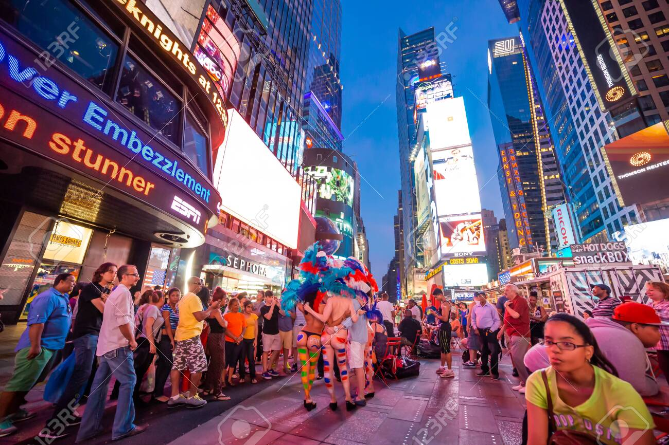 NEW YORK, UNITED STATES, JUNE 29, 2014 : People in Times Square, Manhattan, New York, USA, June 29, 2014, in New York, usa - 138952541