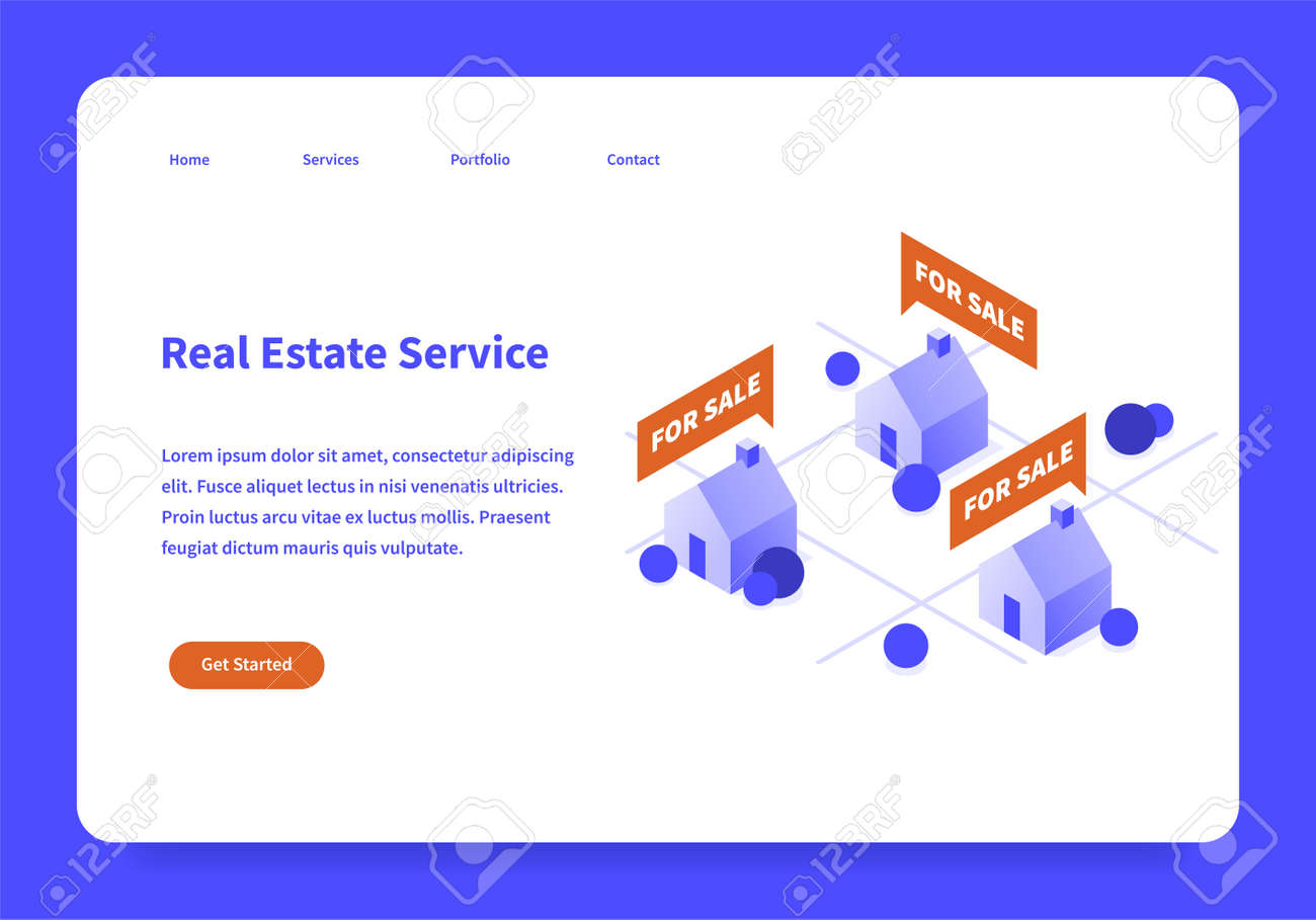 Real Estate Landing Page Concept - 171310279