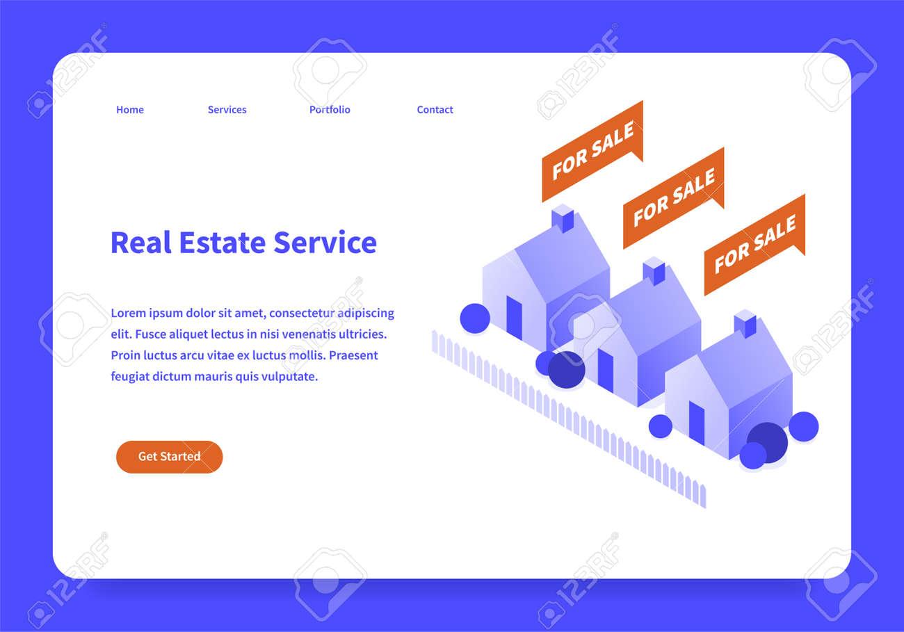 Real Estate Landing Page Concept - 171310281