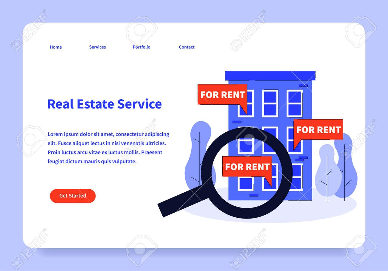 Real Estate Landing Page Concept - 171310282